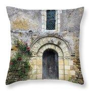 Medieval Window And Door Throw Pillow