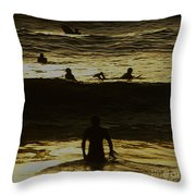 Meditari - Gold Throw Pillow