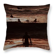Meditari - Red Throw Pillow
