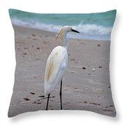 Meditating On The Sea Throw Pillow