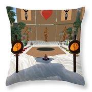Meditation Beach Throw Pillow by Eikoni Images