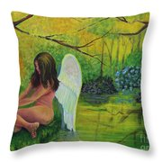 Meditation In Eden Throw Pillow