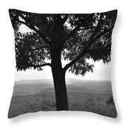 Meditation Tree  Throw Pillow