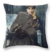 Meditation,  William Merritt Chase American, 1849-1916 1886 Throw Pillow