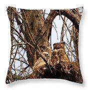 Meditative Momma Throw Pillow