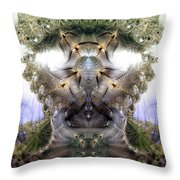 Meditative Symmetry 5 Throw Pillow