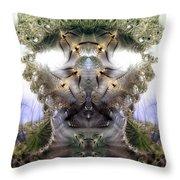 Meditative Symmetry 5 Throw Pillow