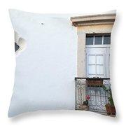 Mediterranean Balcony Throw Pillow