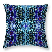 Mediterranean Blue  Throw Pillow