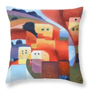 Mediterranean Feel Throw Pillow