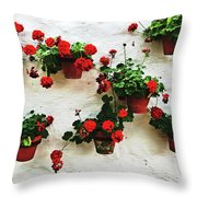 Mediterranean Flower Throw Pillow
