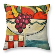 Mediterranean Fruit Cocktail Throw Pillow