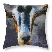 Mediterranean Goat Throw Pillow