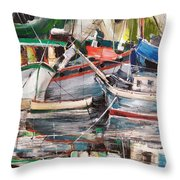 Mediterranean Impression Throw Pillow