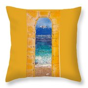 Mediterranean Meditation  Throw Pillow