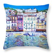 Mediterranean Morning Throw Pillow