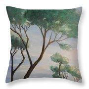 Mediterranean Pines Throw Pillow