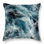 Mediterranean Sea Art 113 Throw Pillow