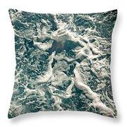 Mediterranean Sea Art 55 Throw Pillow