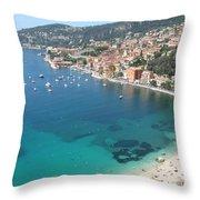Mediterranean Sea Throw Pillow