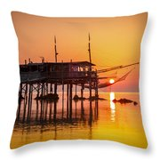 Mediterranean Sunrise Throw Pillow