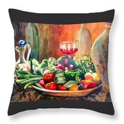 Mediterranean Table Throw Pillow