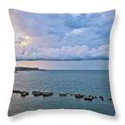 Mediterranean View II Throw Pillow