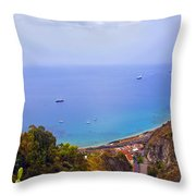 Mediterranean View Throw Pillow