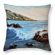 Mediterranean Wave Throw Pillow