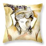 Meditrina Goddess Of Wine Throw Pillow