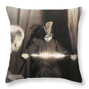 Medium During Seance 1912 Throw Pillow