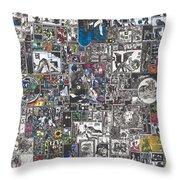 Medusa Maze Throw Pillow by Zak Smith
