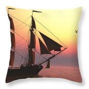 Medusa Sailing Ship Throw Pillow