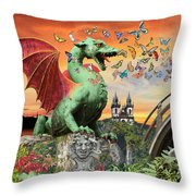 Medusa's Realm At Sunset Throw Pillow