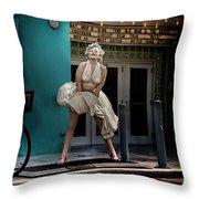 Meet Marilyn Throw Pillow