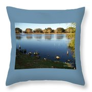 Meet Me At The Fountain Throw Pillow