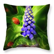 Meet Me At The Hyacinth Throw Pillow