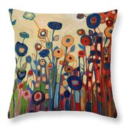 Meet Me In My Garden Dreams Throw Pillow