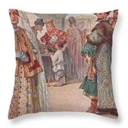 Meeting 1 Sergey Sergeyevich Solomko Throw Pillow