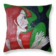 Meeting I  Throw Pillow by Wojtek Kowalski