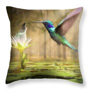 Meeting Mother Nature Throw Pillow