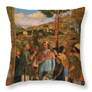 Meeting Of Duke Ludovico II Gonzaga With Cardinal Francesco Gonz Fragment Throw Pillow