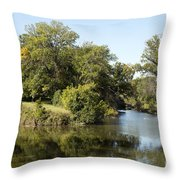 Meeting Of Two Rivers Throw Pillow