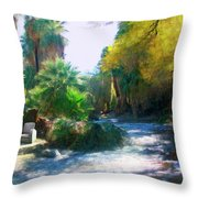 Meeting Place Throw Pillow by Snake Jagger