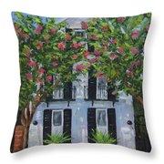 Meeting Street In Bloom Throw Pillow
