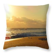 Meeting With The Sun Throw Pillow