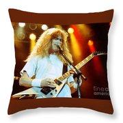 Megadeath 93-dave-0366 Throw Pillow