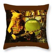 Megadeath 93-david-0365 Throw Pillow