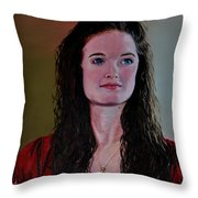 Megan At Eighteen Throw Pillow
