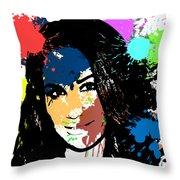 Meghan Markle Pop Art Throw Pillow